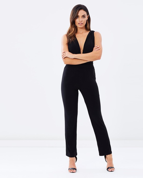 XH Garment v-neck evening jumpsuits